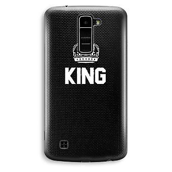 LG K10 (2016) transparante Case (Soft) - koning zwart