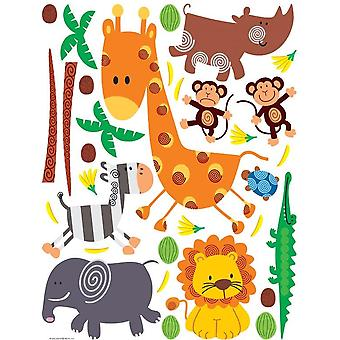 Adhesive decoration Animals of the Savannah 65x85cm