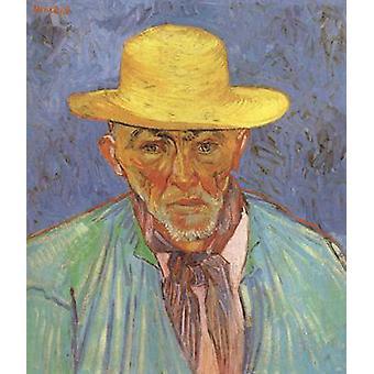 Portret van Patience escalier herder in de Provence, Vincent van Gogh