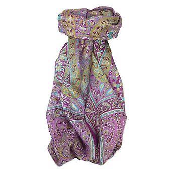 Klasyczny Paisley długi szalik Mulberry Silk Sehgal Plum przez Pashmina & Silk