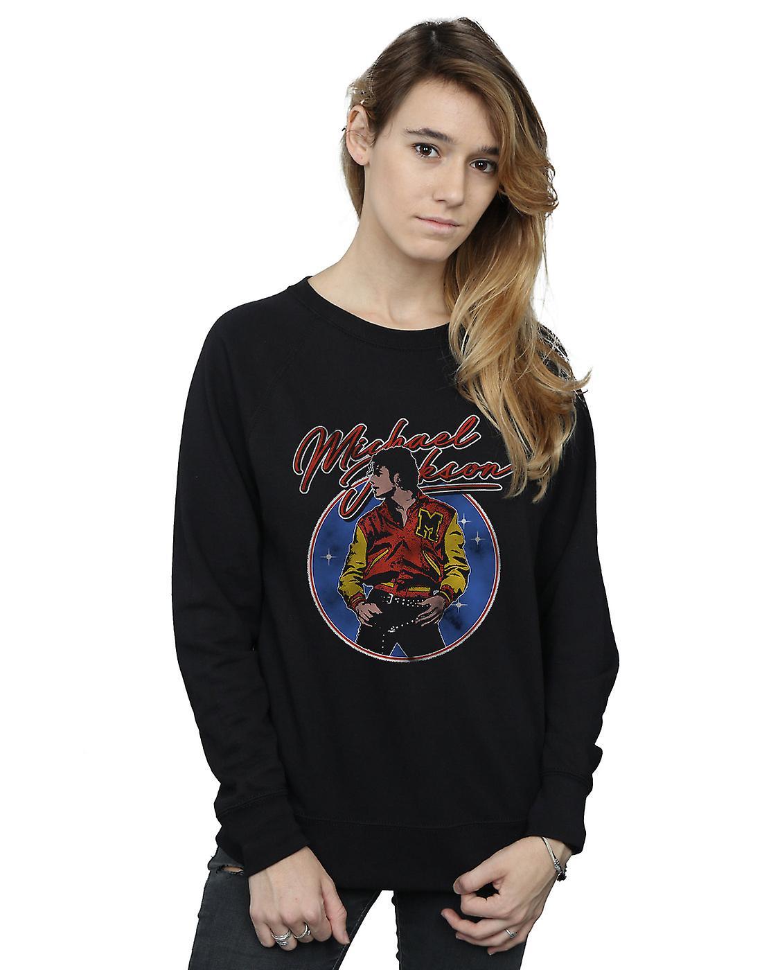 Michael Jackson Women's Circle Thriller Crest Sweatshirt