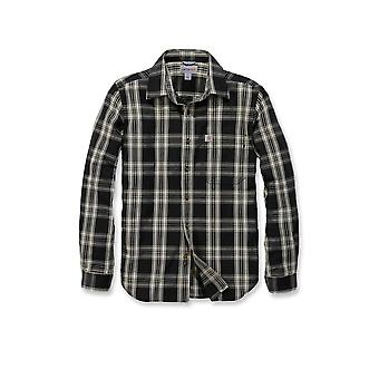 Carhartt men's long-sleeve shirt long sleeve essential open collar Plaid