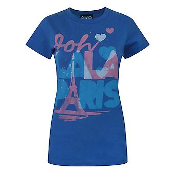 Junk Food Ooh Lala Paris Women's T-Shirt Blue