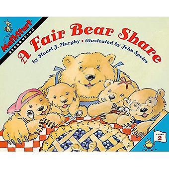 Una condivisione equa orso (MathStart)