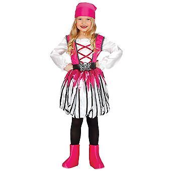 Meisjes roze Caribische piraat Fancy Dress kostuum