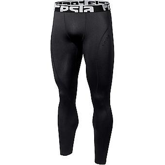 TSLA Tesla YUP33 Thermal Winter Gear Baselayer Compression Pants - Black/Black