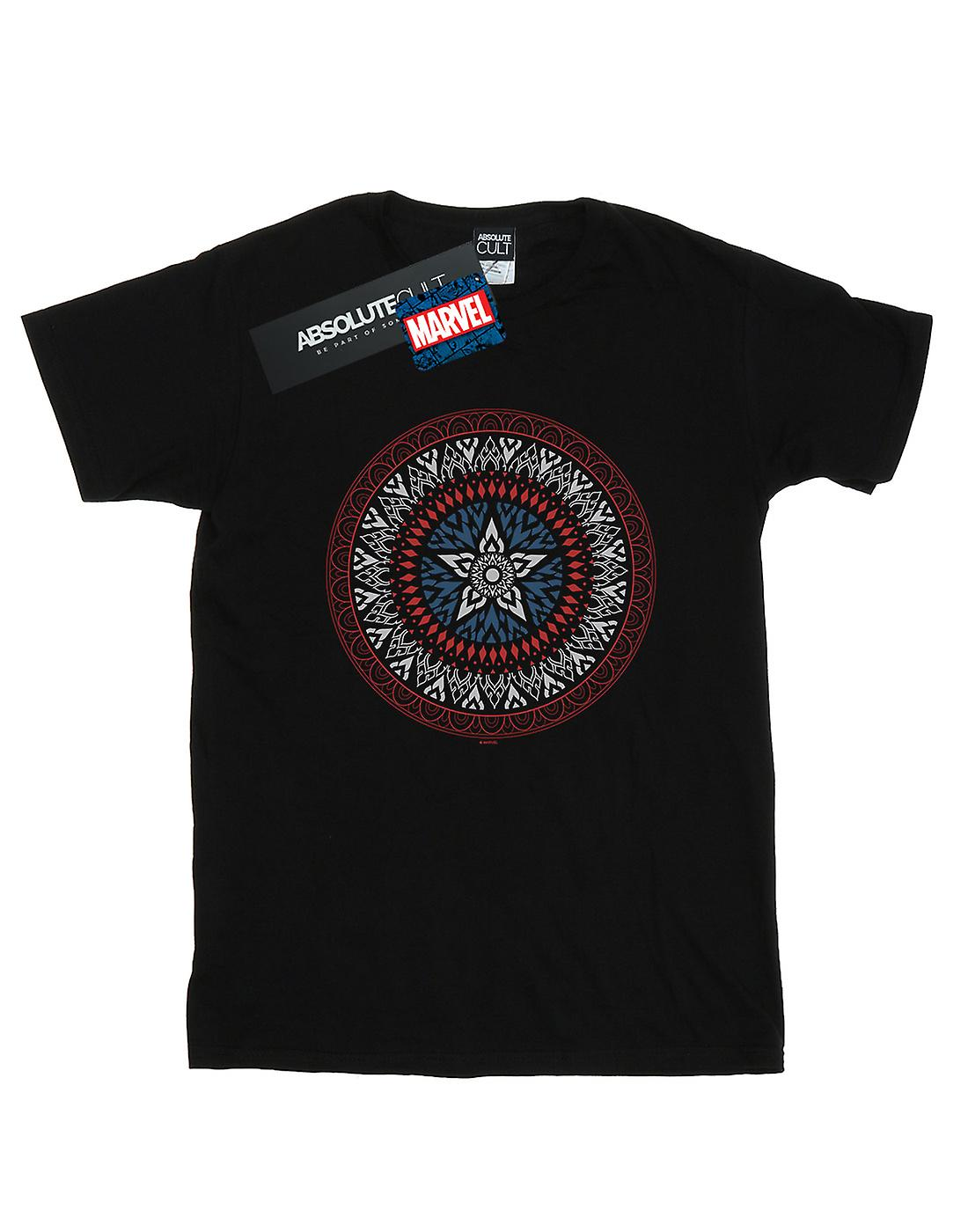Marvel Men's Captain America Ornamental Shield T-Shirt