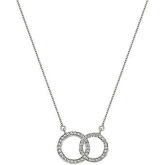Bella Linked Circle Cubic Zirconia Necklace - Silver