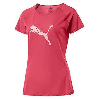 Puma Core kort erme kvinner damer kjører Fitness t-skjorte Tee rosa