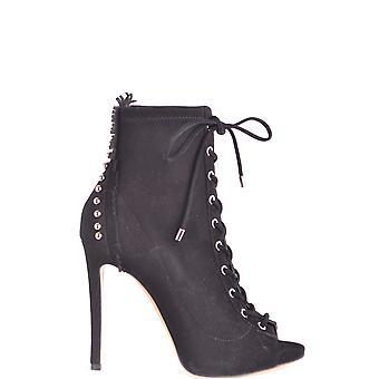 Ninalilou Ezbc115008 Women's Black Suede Ankle Boots