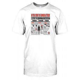 I tilfelle Zombie angrep - 3 trinn for å overleve Infestation Kids T skjorte