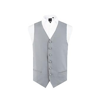 Hombres de Dobell Paloma mañana gris traje boda chaleco Regular Fit único Breasted
