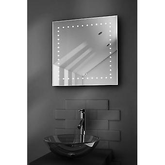 Rasierer Bad Spiegel mit Uhr, Demister & Sensor k183-Box