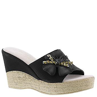 Easy Street Womens Tuscany Fabric Open Toe Casual Platform Sandals