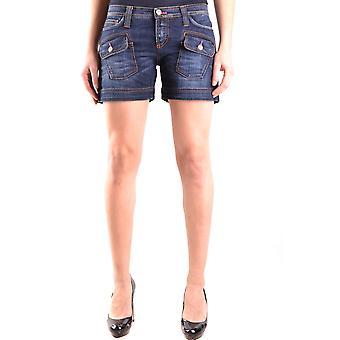 John Galliano Ezbc164002 Women's Blue Denim Shorts