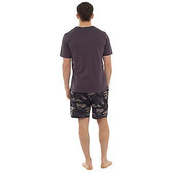 Zokni Uwear férfi Jersey Cotton V-nyak Top & csíkos Print rövidnadrág Pyjama