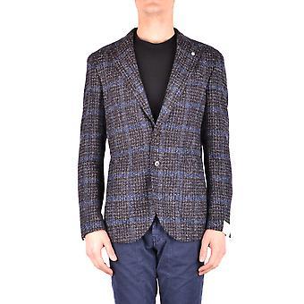 L.b.m. Ezbc215013 Men's Multicolor Wool Blazer