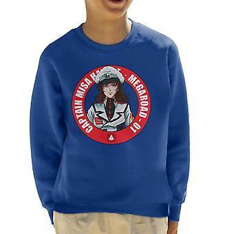 Captain Misa Megaroad 01 Macross Kid's Sweatshirt