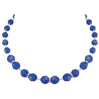 Eternal Collection Serenade Majestic Blue Austrian Crystal Silver Tone Necklace