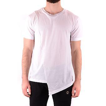 Les Hommes Urban Ezbc260005 Men's White Cotton T-shirt
