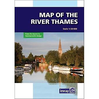 River Thames Map (2nd Revised edition) by Imray - 9781846232374 Book