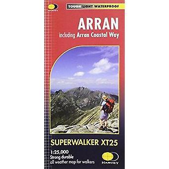 Arran Including Arran Coastal Way XT25 by Harvey Map Services Ltd. -