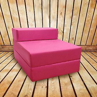 Confortável dobrar cadeira de cama Z em rosa. Macio, confortável e leve com uma tampa impermeável removível. Disponível em 10 cores.