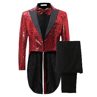 Allthemen Men's Tuxedo Suit Wedding Tuxedo Slim Fit 2-Pieces Suit Tops&pants