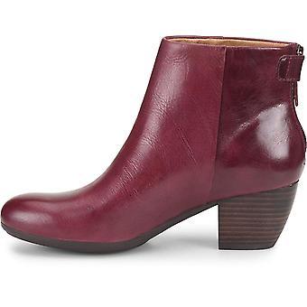 Comfortiva Womens Alandra Leather Round Toe Ankle Fashion Boots