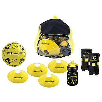 MV Sports Kickmaster Backpack Training Football Set Black/Yellow Ages 5 Years+