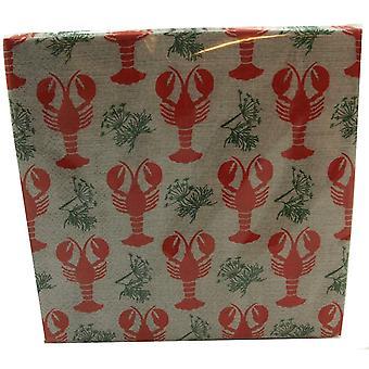 Napkin Canker Crayfish Party 2 Paket 40 Servietten