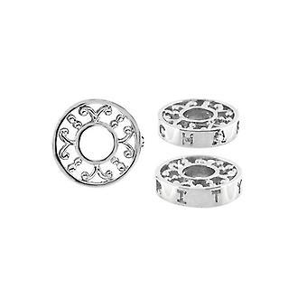 Storywheels sølv & diamant velgørenheds hjul Charm S367D
