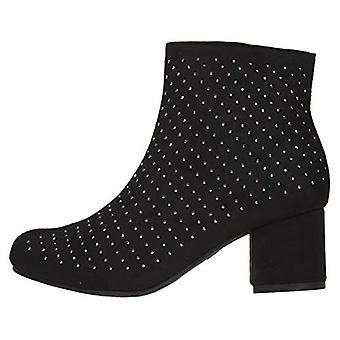Naisten microsuede nilkkurit saappaat strassit slip-on muoti kengät