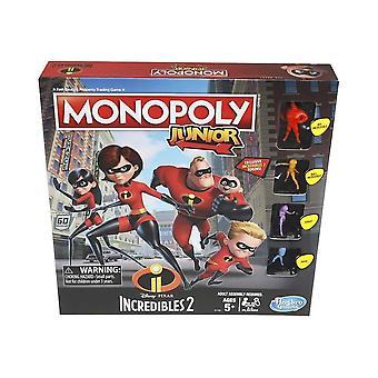 Incredibles Monopoly Júnior jogo de tabuleiro
