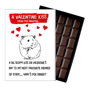 Valentine?s Day Gift Present from the Hamster Boxed Chocolate Greeting Card Present ODV208