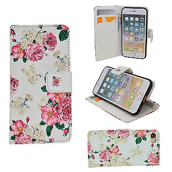 Iphone 5/5 s/se2016 Leder Tasche Brieftasche - Blumen