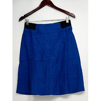 Kelly by Clinton Kelly Skirt A-Line w/Back Zipper Blue A223896