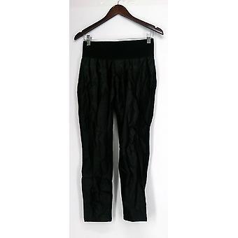 Diane Gilman Petite Leggings breite elastische Bund schwarz 440-397