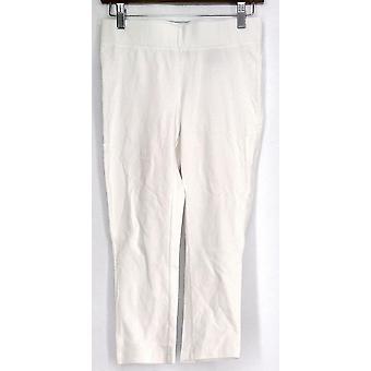 Slimming Options for Kate & Mallory Leggings Stretch Knit Capri White A423883