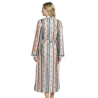 Rösch 1193620-16405 Women's New Romance Floral Multicoloured Striped Cotton Robe