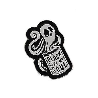 Attitude Clothing Black Like My Soul Enamel Pin