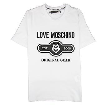 Love Moschino Original Gear camiseta blanca