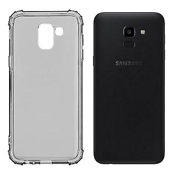 Samsung A8 Plus Case Transparent Black - Shockproof