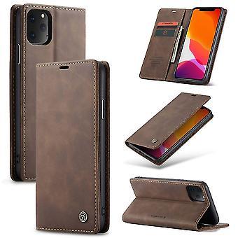 Beschermende case faux leder cover voor Apple iPhone 11 Pro bruin geval Wallet Case geval