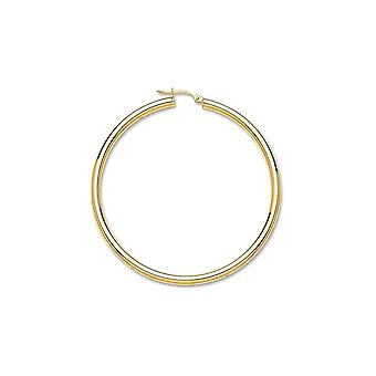 Eternity 9ct Gold Extra Large Plain Hoop Earrngs