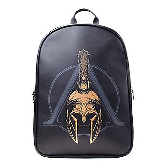 Assassins Creed Odyssey Backpack Premium Odyssey Helmet Logo new Official Black