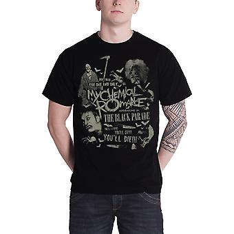 My Chemical Romance T Shirt The black parade Band Logo Official Mens New