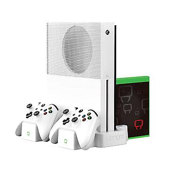 Vertical charging stand and rechargeable battery twin pack - white (xbox one)
