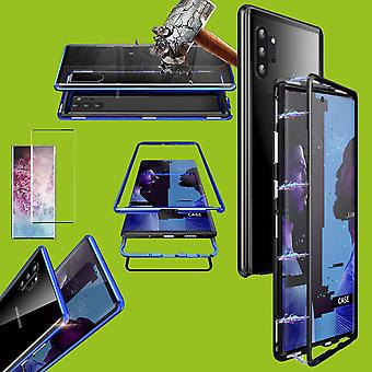 For Samsung Galaxy Note 10 N970F Magnet / Metal / Glass Case Case Black / Transparent + 0.3mm H9 4D Full Curved Tempered Hard Glass