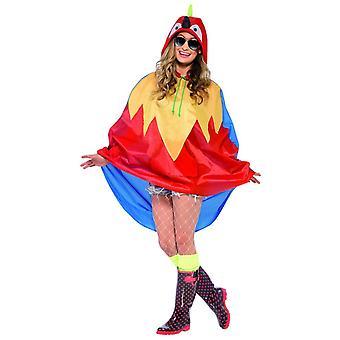 Erwachsene Parrot Party Poncho Festival Karneval Kostüm Zubehör